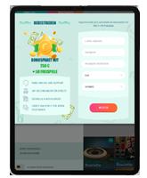 Daten für die Registrierung im iPad Casino