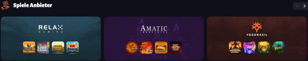 SlotHunter Casino Spiel Anbieter