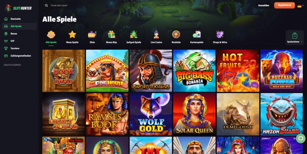 SlotHunter Casino Alle Spiele