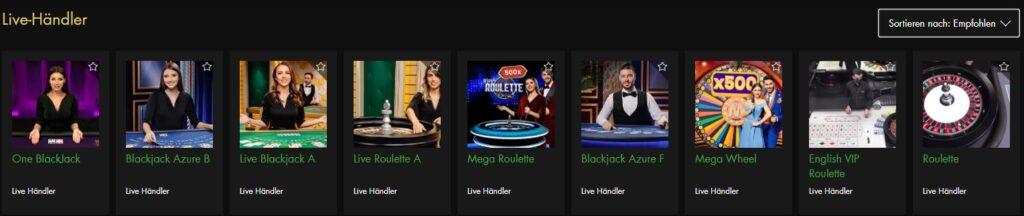 Live-Casino bei Rich